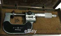 Mitutoyo 123-125A Rolling Digital Disc Micrometer, 0-1 Range. 001 Graduation