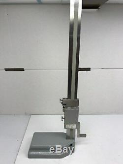 Mitutoyo 18'' 570-114 Digital Height Gage Micrometer 0.01-450mm/. 0005-18'