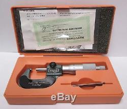 Mitutoyo 193-101 Micrometer Digit Read, 0-25mm/0.001mm