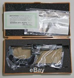 Mitutoyo 193-112 Digit Outside Micrometer, Ratchet Stop, 25-50mm, 0.001mm