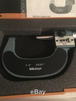 Mitutoyo 193-212 1-2'' Mechanical Digital Outside Micrometer