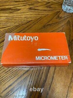 Mitutoyo 193-212 Rolling Digital Outside Micrometer, 1-2 Range. 0001