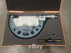 Mitutoyo 193-216 Digital Counter Micrometer 5-6.0001 Carbide Face