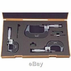 Mitutoyo 193-923 0-3 Mechanical Digital Outside Micrometer Set