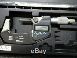 Mitutoyo 1-2 293-331 Digimatic Micrometer with Case