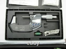 Mitutoyo 1-2 Coolant Proof 0.00005 Outside Micrometer Ip65