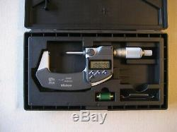 Mitutoyo 1-2 Digimatic Digital Micrometer Ip65 Coolant proof. 00005