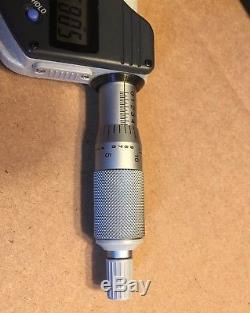 Mitutoyo 1-2 digital coolant proof micrometer carbide tip 293-331 excellent