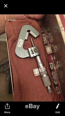 Mitutoyo 214-202 Rolling Digital V-Anvil Micrometer. 093-1/. 0001 Rare