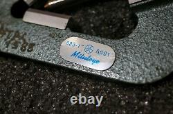 Mitutoyo 214-202 V-Anvil Micrometer with box