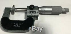 Mitutoyo 223-125 Rolling Digital Disc Micrometer, 0-1 Range. 001 Graduation