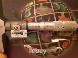 Mitutoyo 229-132 Digit Depth Micrometer Set 0-6, 4 Base, Wooden Box