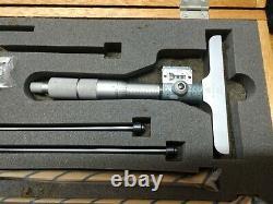 Mitutoyo 229-132 Digit Depth Micrometer in case