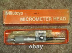Mitutoyo 250-312 Rolling Digital Micrometer Head, 0-1 (. 0001 Graduation)