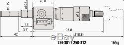 Mitutoyo 250-312 Rolling Digital Micrometer Head, 0-1 Range. 0001 Graduation