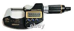 Mitutoyo 293-180-30 QuantuMike Micrometer, 0-1/0-25mm Range, Fast Measure IP65