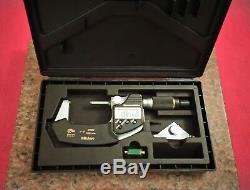 Mitutoyo 293-181 QuantuMike Digimatic Micrometer 1-2/25-50mm SPC Free S/H. 0001