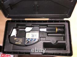 Mitutoyo 293-185-30 0 to 1'' IP65 Carbide Standard Electronic Outside Micrometer
