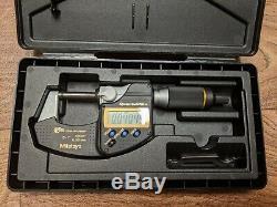 Mitutoyo 293-185-30 QuantuMike Micrometer, 0-1/0-25mm Range, Fast Measure IP65