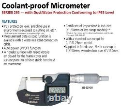 Mitutoyo 293-232-30 Coolant Proof Digimatic Micrometer 50-75 mm SPC Output