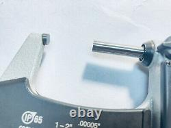 Mitutoyo 293-331 1-2 IP65 Digimatic Coolant Proof Micrometer withSPC Nice