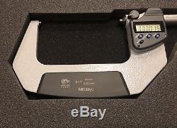 Mitutoyo 293-333 Digital Micrometer 3-4 Range. 00005 Ratchet Stop, SPC with Case