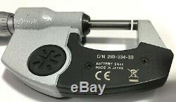 Mitutoyo 293-334-30 Digimatic Micrometer, 0-1/0-25.4mm Range. 00005/0.001mm