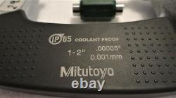 Mitutoyo 293-336-30, 1-2 Digital Micrometer, Ip65.00005, Spc