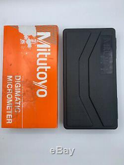 Mitutoyo 293-340-30 Digimatic Digital Micrometer Cert, Ratchet Thimble, 0 to 1