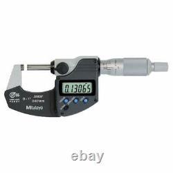 Mitutoyo 293-340-30 Digital Micrometer, 0 To 1, Ratchet IP65 +/. 00005