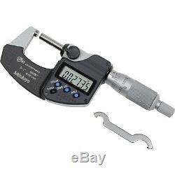 Mitutoyo 293-340-30 Micrometer 1/ 25.4mm IP65 Ratchet Stop-No SPC