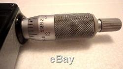 Mitutoyo 293-341-30, 1-2 Digital Micrometer, Ip65.00005, Ratchet Thimble