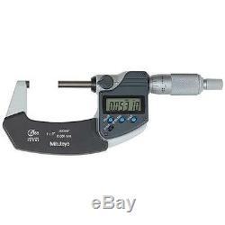 Mitutoyo 293-341-30 Digimatic Ratchet Stop Micrometer, 1-2/25-50mm Range. 0000