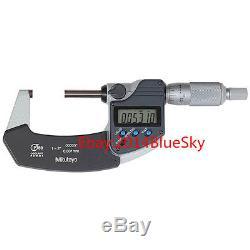 Mitutoyo 293-341 Digital Micrometer 25-50mm 0.001mm! Brand New
