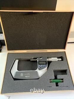 Mitutoyo 293-342 IP 65 Coolant Proof Digital Micrometer, 2-3.00005