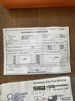 Mitutoyo 293-344-30 0-1 0-25mm Digimatic External Micrometer IP65 Coolant Proof