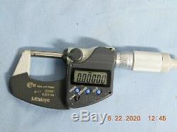 Mitutoyo 293-344-30 Digimatic Micrometer, Range 0-1/0-25.4 mm, IP65