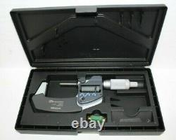 Mitutoyo 293-345-30 1 to 2'' IP65 Carbide Standard Electronic Outside Micrometer