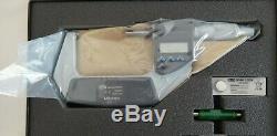 Mitutoyo 293-346-30, 2-3/50-76mm, Digital Micrometer, IP65 Ratchet Thimble