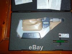 Mitutoyo 293-347-30 3 4 Digimatic Micrometer. 00005 Carbide Faces