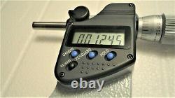 Mitutoyo 293-347-30, 3-4 Digital Micrometer, Ip65.00005, Ratchet Thimble