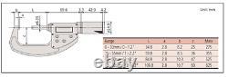 Mitutoyo 293-676 ABSOLUTE Digimatic Micrometer, 0-1.2/0-30.48mm Range. 00005