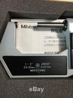 Mitutoyo 293-712 Digital Micrometer 1-2/. 00005. 1 In Standard In Case Used