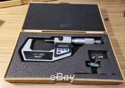 Mitutoyo 293-722-10 1-2 Digital Outside Micrometer MINT IN CASE UNUSED (5699)