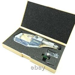 Mitutoyo 293-722-30 Digimatic Micrometer Carbide 1-2.00005 0-25mm. 001mm SPC