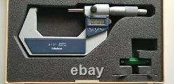Mitutoyo 293-723-30 Digimatic Micrometer, 2-3/50-75mm Range. 00005/0.001mm