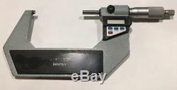 Mitutoyo 293-724-10 Digimatic Micrometer, 3-4/75-100mm Range. 00005/0.001mm