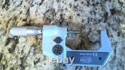 Mitutoyo 293-726-30 1-2 Digital Micrometer Caliper. 00005-0.001mm