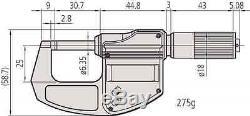 Mitutoyo 293-832-30 Digimatic Digital External / Outside Micrometer (0-25mm)