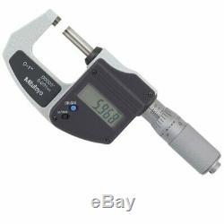 Mitutoyo 293-832 Digimatic Digital External/Outside Micrometer 0-25mm 0-1 inch